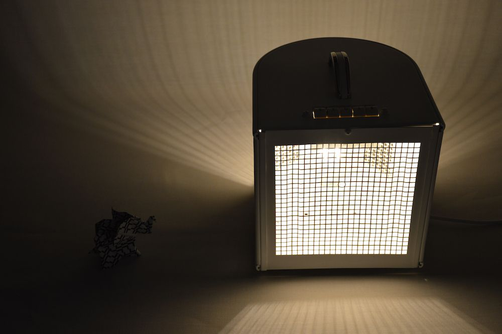 Lampe thermowind design vintage upcycling