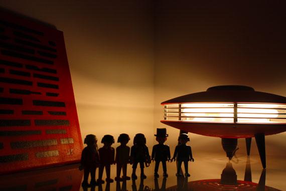 lampe design vintage indola rouge