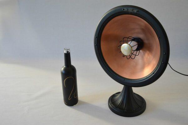 Lampe Big Parabole Calor Cuivre Noir design vintage art deco