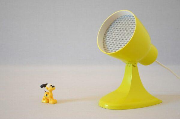 Lampe jaune Ideen design vintage upcycling 1