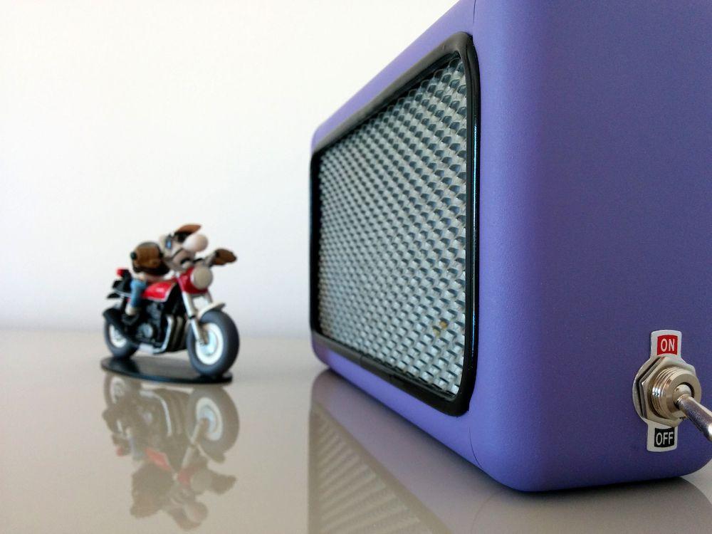Lampe violette Bouyer design 4
