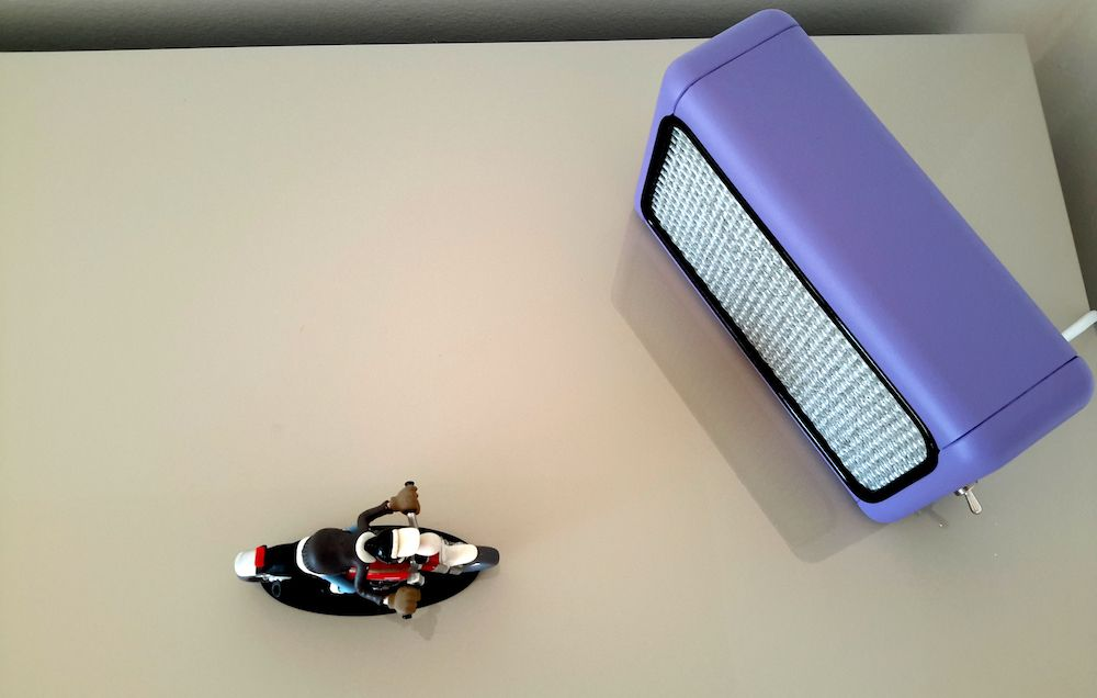 Lampe design vintage Mini Bouyer violet 7