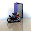 Lampe violette Bouyer design 8