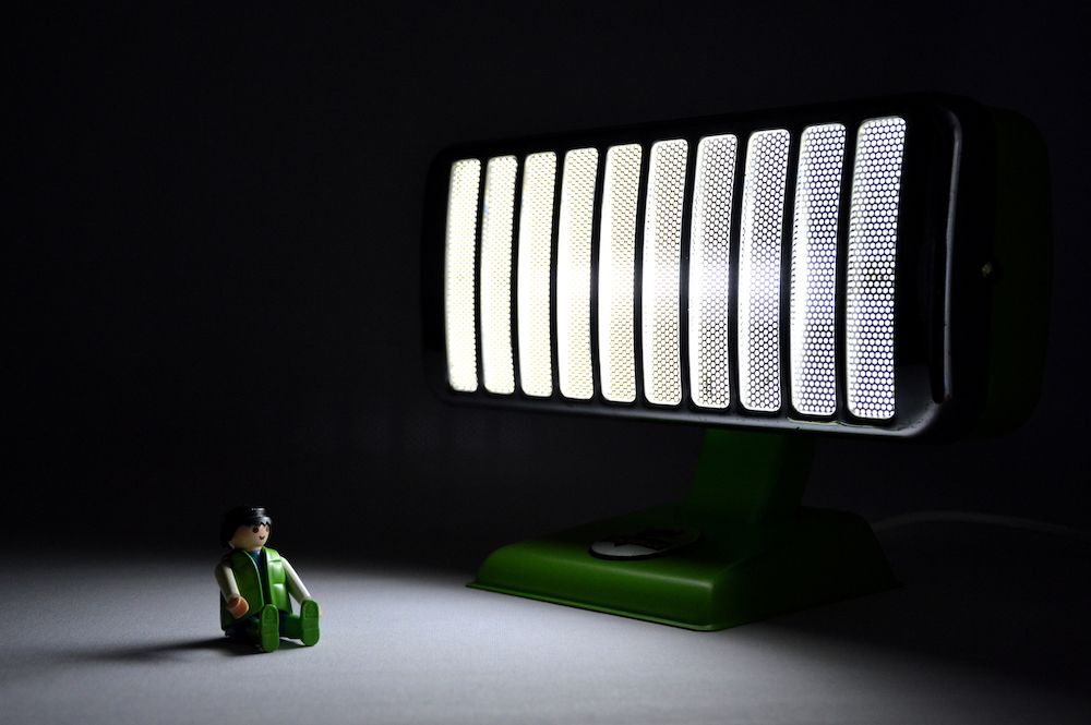 Lampe petit thermor vert pomme 2