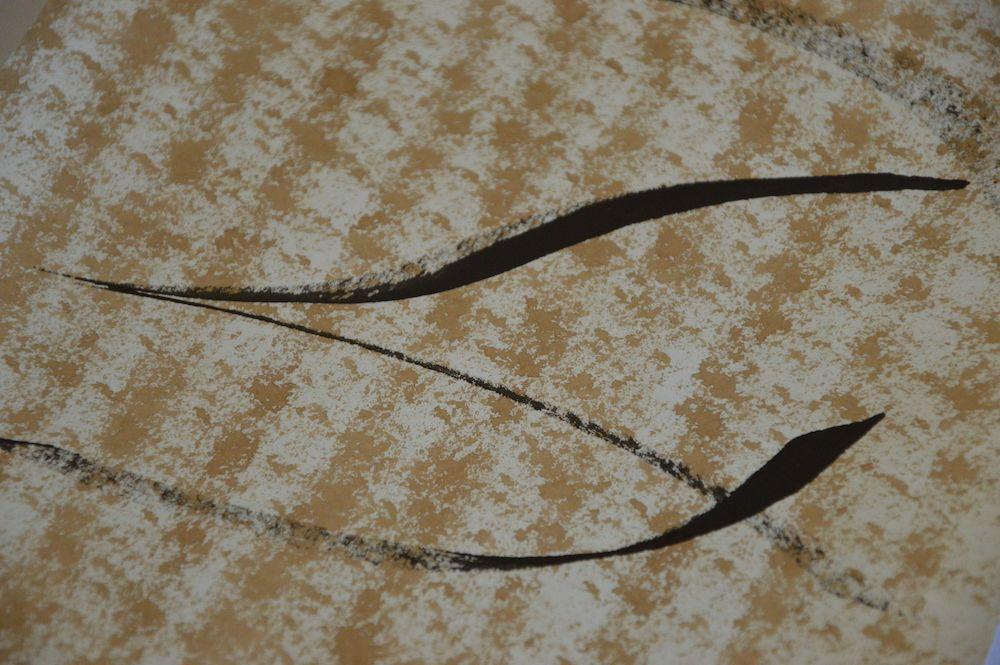 Toile contemporaine calligraphie mini brou de noix I 2