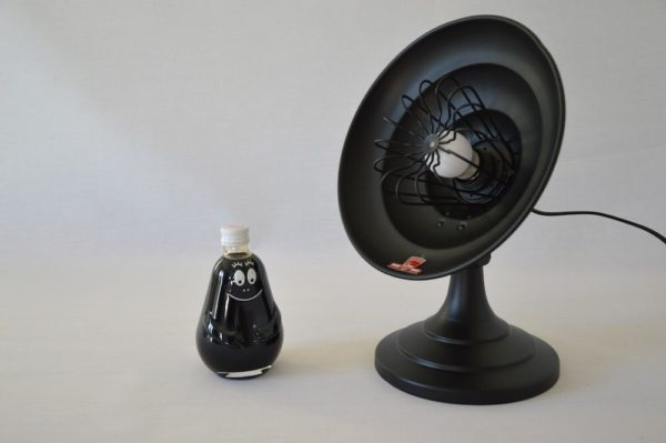 Lampe noire design vintage Artaud upcycling