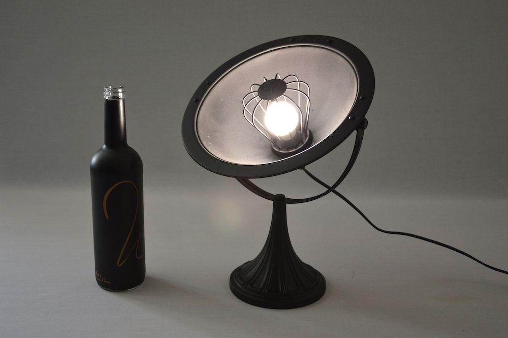 Lampe parabole calor art deco black design vintage