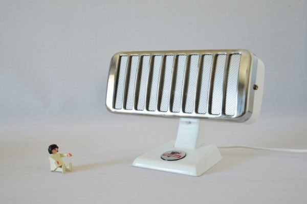 Small Glossy White Thermor Lamp