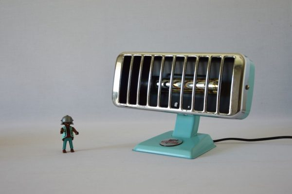 Small Thermor Edison Green Mint Lamp