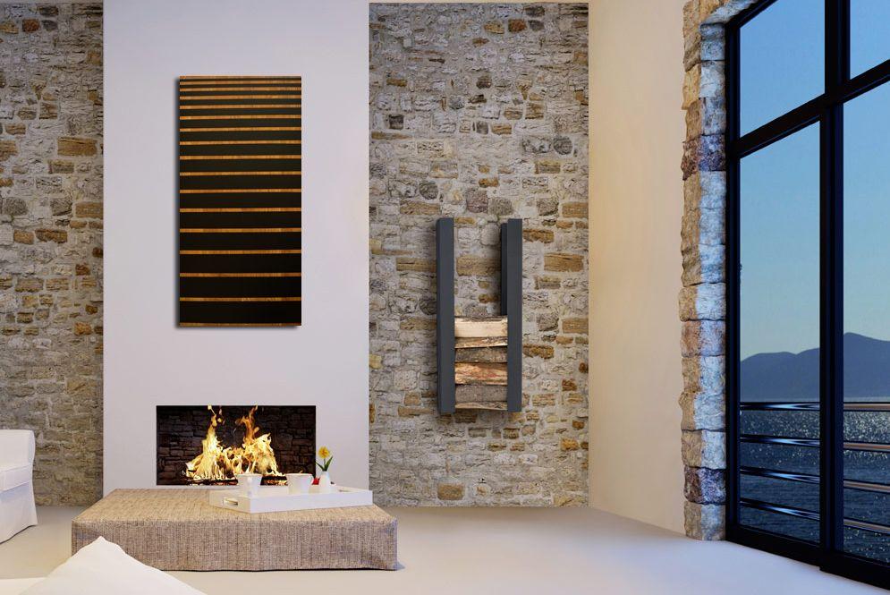 Toile contemporaine pochoir bois art graphique 3