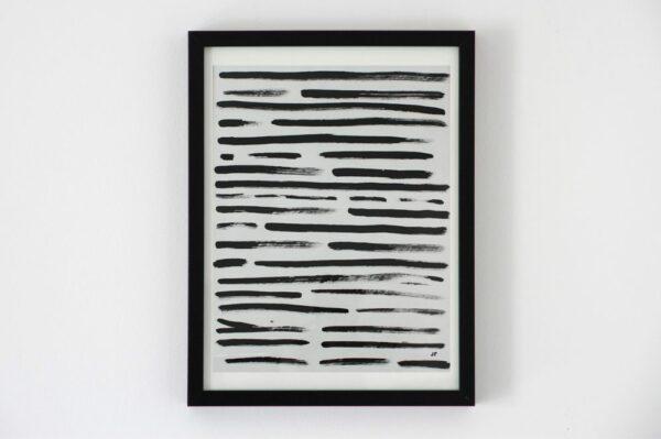 Toile contemporaine calligraphie revisitee black II 1