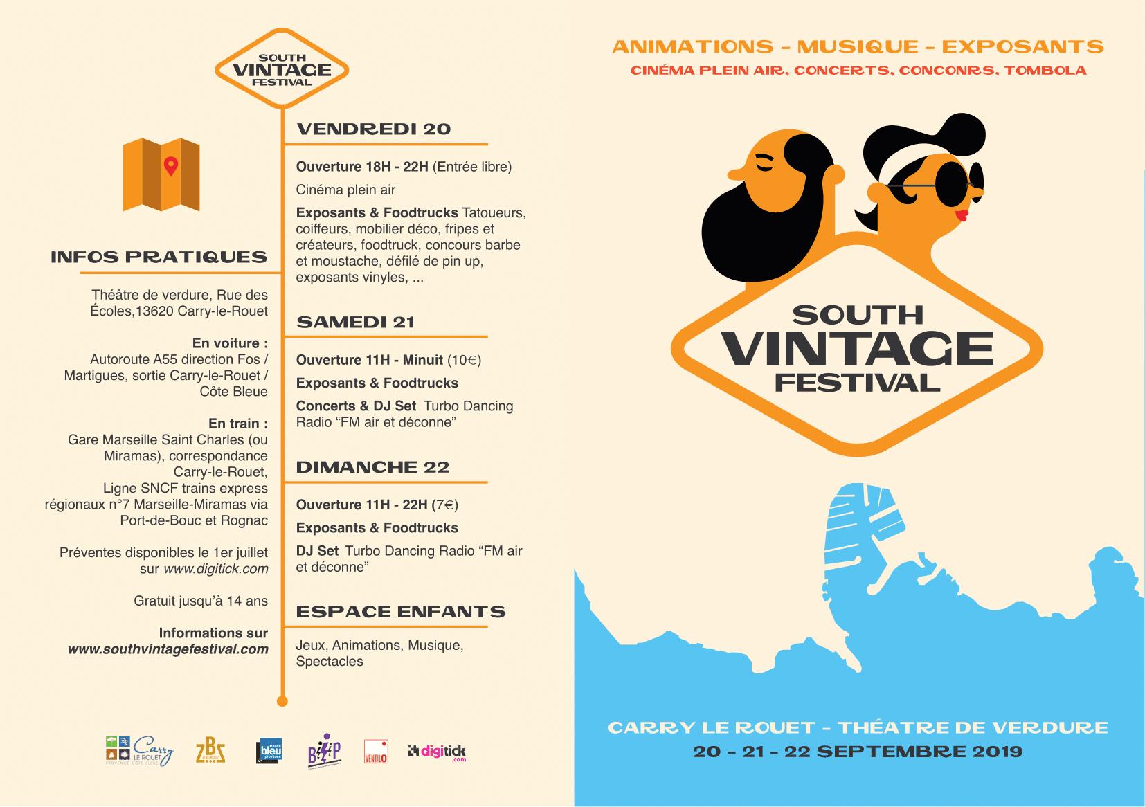 Plaquette festival south vintage festival Carry le Rouet programme