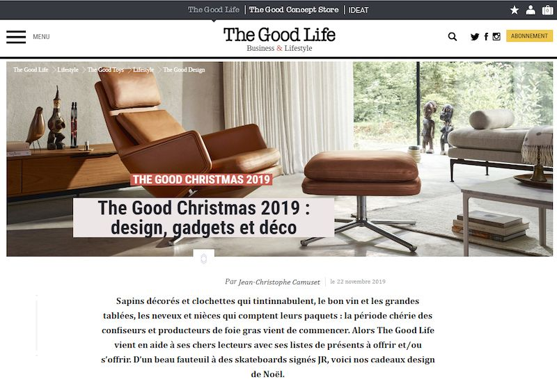 Presse The Good Life Cadeau Noel 2019 Idee lampe design ArtJL