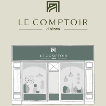 logo comptoir alinea lampe decoration  artjl